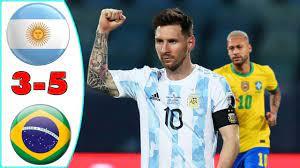 ملخص مباراة الارجنتين والبرازيل 5-3 هدف ميسي العالمي وجنون المعلق - YouTube