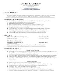 Entry Level Human Resources Resume Objective Human Resources Resume Objective Entry Level Resume Objectives 1