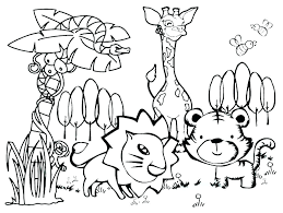 Animal Colouring Sheets Printable Easy Animal Colouring Pages Cute