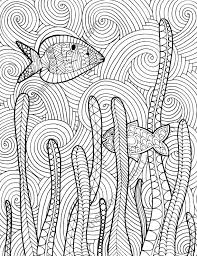 Small Picture Zentangle fish adult coloring page adult coloring sheet