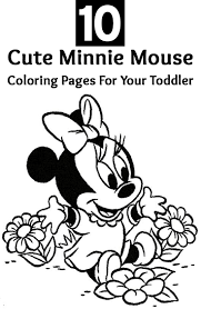 10 Cute Minnie Mouse Coloring Pages
