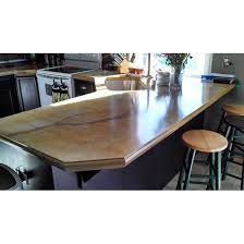 diy stained concrete countertop