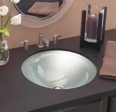 undermount bathroom sink round. DECOLAV Terra 1000TU Translucence Collection - Round Undermount 12mm Glass Bathroom Sink L
