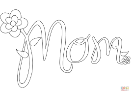 Mommy Coloring Pages Mom Coloring Page Free Printable Coloring Pages
