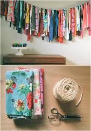 add some chic bohemian charm to your home with this fabric s garland the garland is incredibly easy to make you just need a few basic tools