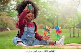 Black Girl Playing Toys