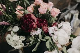 deled fl arrangement petal cart deep reds white jpg