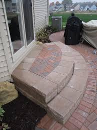 44 paver patio steps leading edge landscapes