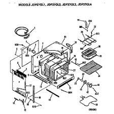 ge electric range parts model jdp37gl4 sears partsdirect main body