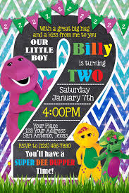 barney party invitation template barney 2nd birthday invitation barney pinterest birthdays