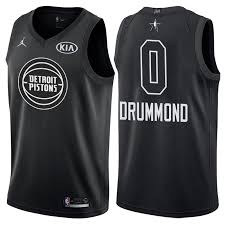 All-star Black 0 Andre Women Nba 2018 Drummond Jersey