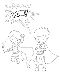 Small Picture Girl Superhero Coloring Pages For ChristmasSuperheroPrintable