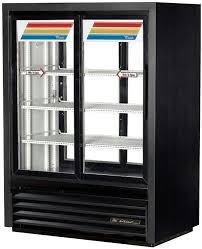 true gdm 33cpt 54 ld 40 4 slide glass door merchandiser refrigerator fast lane pass thru