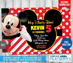 mickey mouse clubhouse birthday invitation by templatemansion on mickey mouse clubhouse birthday invitation by templatemansion