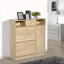 entryway cabinet furniture. brilliant cabinet homcom shoe storage cabinet entryway hallway wooden chest drawer home  furniture in