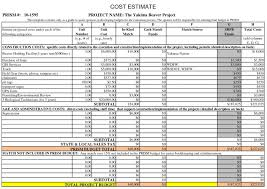 Cost Estimate Form Free Building Estimate Format In Excelkaisuo Als On Construction