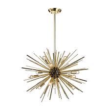 arteriors zanadoo replica chandelier starburst orbit globe mid century gold