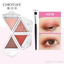chioture eyeshadow palette makeup cosmetics glitter metallic green orange soft professional mini shadow kit eye shadow makeup brush set from bawanbian