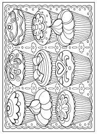 Small Picture Creative Haven Designer Desserts Coloring Book Dover Publications