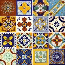 6X6 Decorative Ceramic Tile Set of 100 Mexican Talavera Ceramic Tiles 100x100 in 80