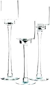 tall votive candle holders long stem glass tealight stemmed 4 inch ca