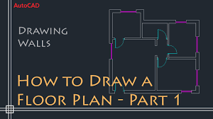 autocad 2d basics tutorial to draw a simple floor plan fast and efective part 1 you