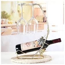 decorative wine bottle and glass holder rack bath