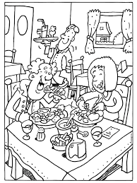 Kleurplaat Lekker Eten In Een Restaurant Kleurplatennl