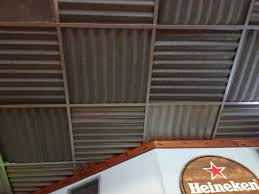 sagging tin ceiling tiles bathroom: now i know what to do with the ugly drop ceiling in my basement if we dont find nice exposed beams when we remove the ugly white tiles more