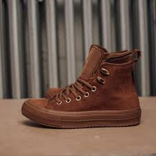 waterproof brown leather hi top chuck taylor all star women