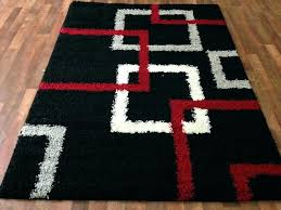 black area rugs 5x7 red rug gy white silver gray squares pattern and