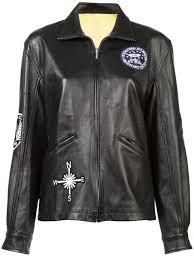 embellished boyfriend leather jacket