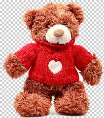 teddy bear doll stock photography brown teddy bear brown bear wearing red sweater png