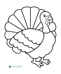 Small Picture Turkey Coloring Pages