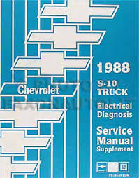 1988 chevy s 10 pickup and blazer electrical diagnosis manual s10 image is loading 1988 chevy s 10 pickup and blazer electrical