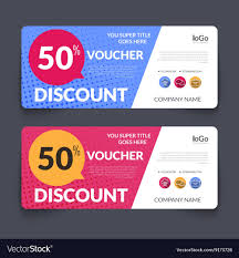 Discount Voucher Design Discount Voucher Design Template with colorful Vector Image 1