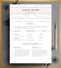 Resume Template Cv Template Editable In Ms Word And Pages Instant Digital Download Size A4 And Us Letter