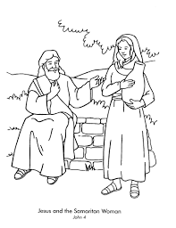 Small Picture Lesson 15 Woman at the Well John 4 color page of Jesus and the