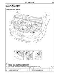 2010 toyota corolla body repair manual 2007 Toyota Corolla Front Diagram body dimensionsdi 12 under body; 15 2009 Toyota Corolla Diagram