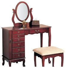 cherry bedroom vanity table brilliant oak makeup vanity table with coaster 8 drawer jewelry and cherry