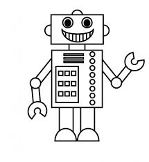 Small Picture Coloring Page Robot Pages For Preschool Online Free To Print