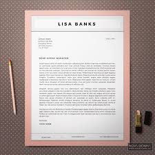 Modern Contemporary Resume Cover Letter Portfolio Cv Template Cover Letter Resume Templates Creative Market Free Moder