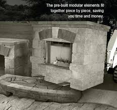 pre made outdoor fireplace fireplaces prefab cost