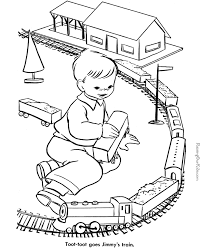 Small Picture Toy train coloring page 013