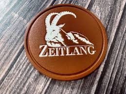 leather patch with company logo