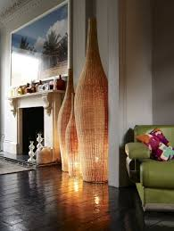 floor standing lamps for living room. feature lighting at its very best: over-sized contemporary wicker floor lights bathe the room in a soft dappled glow. standing lamps for living t