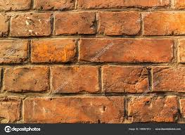 a part of old red brick wall for texture or background stock image
