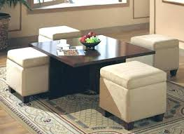 4 ottoman coffee table alluring round with storage ottomans champagne cube