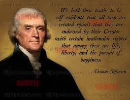 Declaration Of Independence Quotes Interesting Jefferson Poster