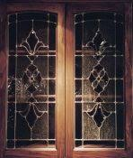 Beautiful Bevel Clusters Cabinet Glass